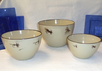 AD10279.FLYA - Adventure 3pc Dry Fly Series Serving/Mixing Bowl Set  #AD10279.FLYA