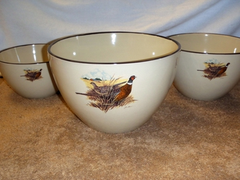 AD10279.PHFC - Adventure 3pc Scenic Pheasant Serving/Mixing Bowl Set #AD10279.PHFC
