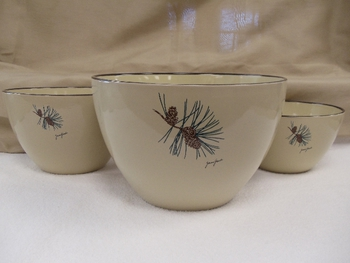 AD10279.PINE - Adventure 3pc Pine Cone Serving/Mixing Bowl Set #AD10279.PINE