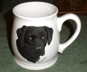 BL10262.BLAB - White Bell Mug - Black Lab Head #BL10262.BLAB