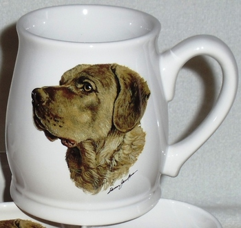 BL10262.CHS - White Bell Mug - Chesapeake Head #BL10262.CHS