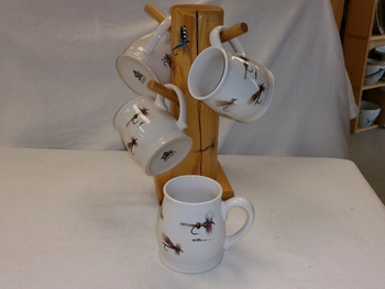 BL10262.FLYA - Bell Mug - Bright White - Dry Flies Series #BL10262.FLYA