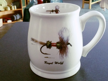 BL10262.RLY - Royal Wulff Dry Fly 16oz. White Bell Mug #BL10262.RLY
