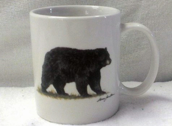 CH112.BLKB- 11 OZ C-Handle Mugs with the Black Bear Artwork #CH112.BLKB