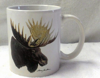 CH112.MOSA- 11 OZ C-Handle Mugs with the Moose Head Artwork #CH112.MOSA