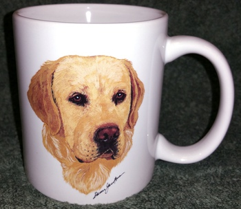 CH112.YLAB - 11 OZ C-Handle Mugs with the Yellow Lab Head #CH112.YLAB