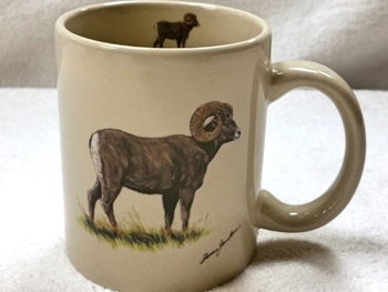 CH122.BHS - 11 OZ C-Handle Big Horn Sheep Mug  #CH122.BHS