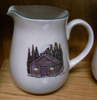CS10107.CBN - Cabin Series Ceramic Water Pitcher- Cabin #CS10107.CBN