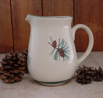 CS10107.PINE - Cabin Series Ceramic Water Pitcher- Pine Cone Design #CS10107.PINE