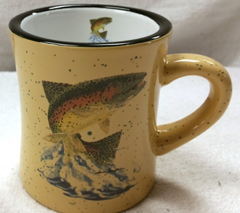 DM10307.JTRT - 10 oz. Almond Diner Mug - Dancing Rainbow #DM10307.JTRT