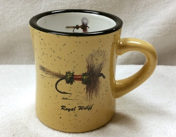 DM10307.RLY - 10 oz. Royal Wulff Dry Fly Almond Diner Mug #DM10307.RLY