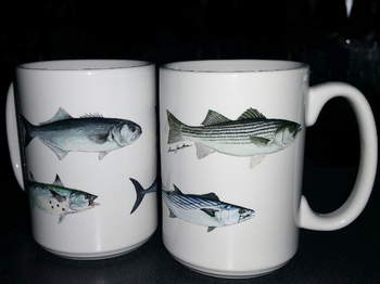 EL113.NEFA - 15 oz. White El Grande Mug - Northeast Fish Series #EL113.NEFA