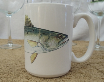 EL113.SEAT - 15 oz. White El Grande Mug - Speckled Sea Trout #EL113.SEAT