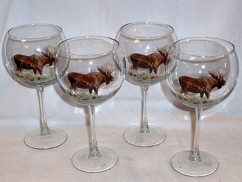 GP10137.MOSB - 19oz. Elegance Balloon Moose Wine Glass (set of 4) #GP10137.MOSB
