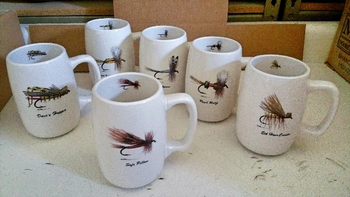 GP10263.FLYA6 - Barrel Mugs - Set of 6 - Dry Flies Series #GP10263.FLYA6