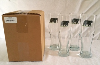GP820.BLKB - Bear Pilsner Glass (Set of 4) #GP820.BLKB