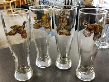 GP820.UPLA - Upland Gamebird Series Classic Pilsners (Set of 4) #GP820.UPLA