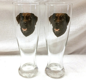 GP821.CLAB - Chocolate Lab Head Pilsner (2pc Set) #GP821.CLAB
