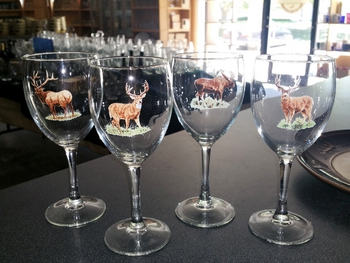GP890.BGMB - Wine Goblet (set of 4) - 11oz. - Big Game Animal Series #GP890.BGMB