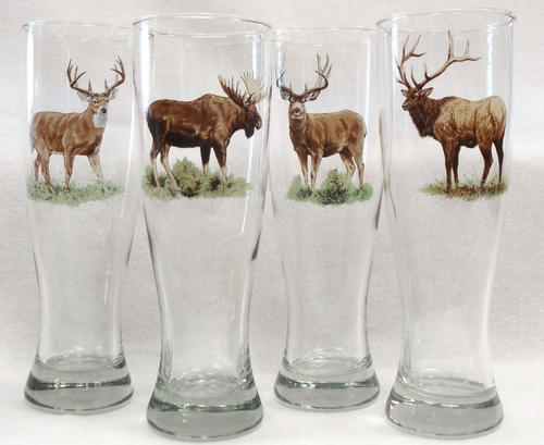 GP820.BGMB - Big Game Animal Series Classic Pilsners (Set of 4) #GP820.BGMB