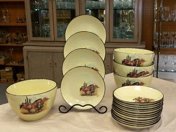LC10278.SWBL - Lodge Collection 5pc Southwest Buckskin Loping Pasta/Salad Set #LC10278.SWBL
