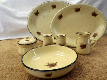 LCACC.PHFC - Lodge Collection Enhanced Accessories Set - Pheasant Couple Farm Scene #LCACC.PHFC