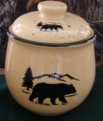 Lodge Collection Cookie Jar - Signature Series - Bear and Mountain Silhouette #LCCJ.BERS