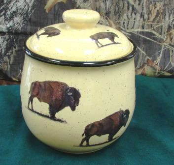 Lodge Collection Cookie Jar - Signature Series - Buffalo #LCCJ.BUF