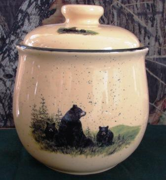 Lodge Collection Cookie Jar - Signature Series - Landscape Bear and Cubs #LCCJ.LBF