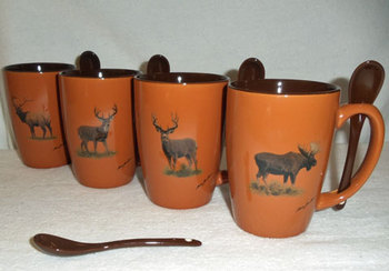 GP10301.BGMB - Terracotta Rust with Big Game Animal Series #SB10301_BGMB