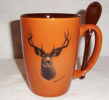 SB10301.MUDA - Terracotta Rust with Mule Deer  Head #SB10301.MUDA