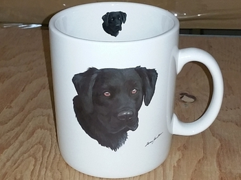 SM114.BLAB - Bright White Super Sized Black Lab Lab 30oz. Mug #SM114.BLAB