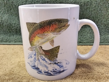 SM114.JTRT - Bright White Super Sized 30oz. Mug - Dancing Rainbow #SM114.JTRT