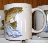 SM114.JTRT - Bright White Porcelain Super Sized 30oz. Mug - Dancing Rainbow SM114.JTRT