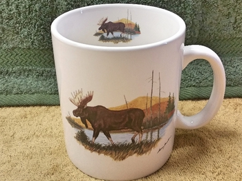 SM114.LMW - Bright White Super Sized Scenic Moose 30oz. Mug #SM114.LMW
