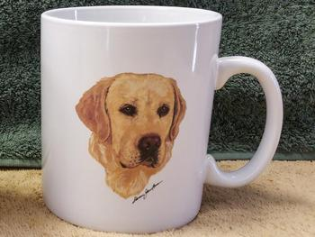 SM114.YLAB - Bright White Super Sized Yellow Lab 30oz. Mug #SM114.YLAB