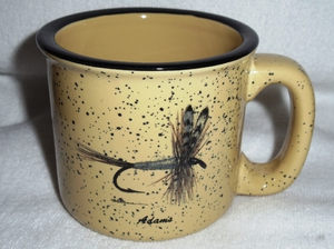 TM10148.ADM - Almond 15oz Trail Mugs  - Adams Dry Fly #TM10148.ADM