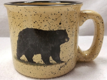 TM10148.BLKB - 15oz Almond Trail Mug - Black Bear #TM10148.BLKB