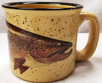 TM10148.BRNH - Almond 15oz Brown Trout Trail Mug #TM10148.BRNH