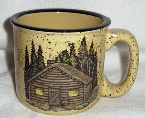 TM10148.CBN - Almond 15oz Rustic Cabin Mug #TM10148.CBN
