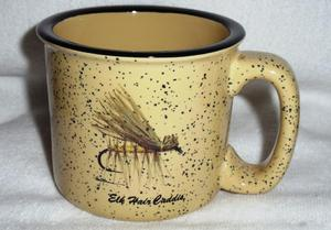 TM10148.EHC - Almond 15oz Trail Mug - Elk Hair Caddis Dry Fly #TM10148.EHC