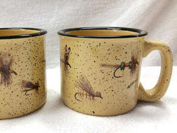 TM10148.FLYAW - Almond 15oz Trail Mug - Dry Flies Series Wrap #TM10148.FLYA