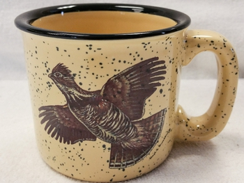 TM10148.GRS - Almond 15oz Ruffed Grouse Trail Mug #TM10148.GRS