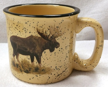 TM10148.MOSB - Almond 15oz Standing Moose #TM10148.MOSB