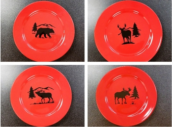 WS10312DP - Crimson Red Dinner Plates Only #WS10312DP