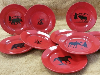 WS10312SP - Crimson Red Salad Plates Only #WS10312SP