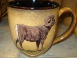 Reactive Glaze Mocha Big Horn Sheep Bistro Mug BM10268.BHS