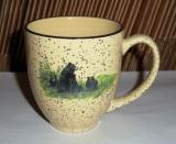 Landscape Bear and Cubs 16oz Almond Bistro Mug BM127.LBF
