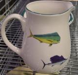 CS10107.OFFA - Cabin Series Ceramic Water Pitcher- Offshore Big Game Fish Series CS10107.OFFA