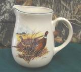 CS10107.PHCF - Cabin Series Ceramic Water Pitcher- Scenic Landscape Pheasant Couple CS10107.PHCF
